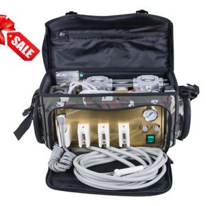 Dental Portable Turbine Unit With Air Compressor Suction System 3 Way Syringe
