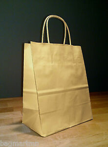 8 X 4 75 X 10 5 Kraft Brown Paper Cub Shopping Gift Bags With Rope Handles