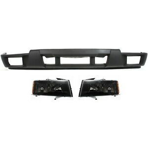 Bumper Cover Kit For 2004 2012 Chevrolet Colorado Front 3pc Textured