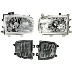 Headlight Kit For 1999 2004 Nissan Pathfinder Left And Right 4pc