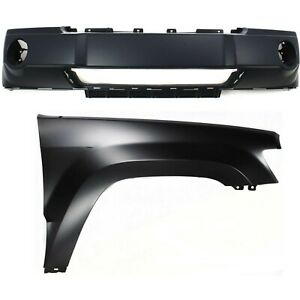 Bumper Cover Kit For 2005 2007 Jeep Grand Cherokee