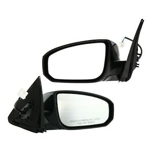Power Mirror Set For 2004 2008 Nissan Maxima Manual Foldiing Paintable