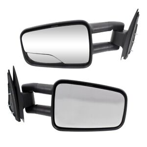Manual Towing Mirror For 1999 2006 Chevy Silverado 1500 Tblk Camper Fold Pair