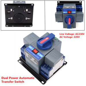 Powerful 63a 2p Dual Power Automatic Transfer Switch Cb Ats Level