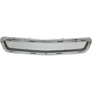 Bumper Grille For 2004 2007 Cadillac Cts Center Chrome Plastic