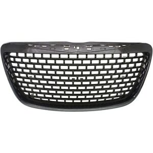 Grille For 2012 2014 Chrysler 300 Black Plastic