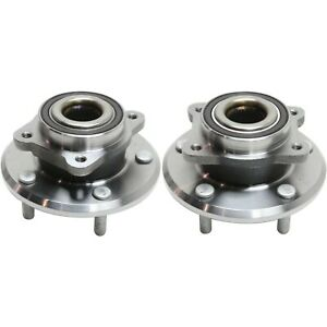 2009 2016 For Dodge Journey Pair 2 Front Wheel Bearing And Hub Assembly Set