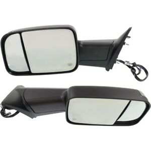 Tow Mirror Set For 2012 Ram 1500 Driver Passenger Side Power Heat Puddle Light