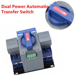 Fantistic 63a 2p Dual Power Automatic Transfer Switch Cb Ats Level Manual Kit