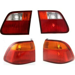 Tail Light For 99 2000 Honda Civic Kit Driver And Passenger Side Inner And Outer