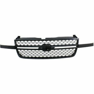 Grille For 2003 2006 Chevrolet Silverado 2500 Hd Textured Black Plastic