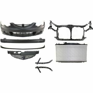 Bumper Cover Kit For 2002 2004 Acura Rsx Front 8pc