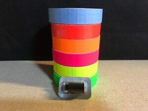 1131 Style Monarch Labels Yellow green pink blue orange red 1 Ink Roller