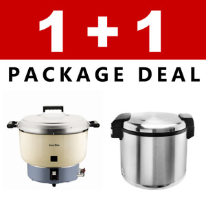 Pantin Commercial Restaurant 110 Cup Gas Rice Cooker And Electric Warmer Nsf