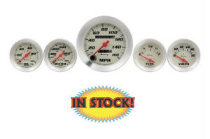 Autometer E8500 Equus E8500 5 Piece Gauge Kit White Background