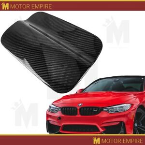 Glossy Black Real Carbon Fiber Gas Door Trim Fuel Cover For 2014 18 Bmw M4 F82