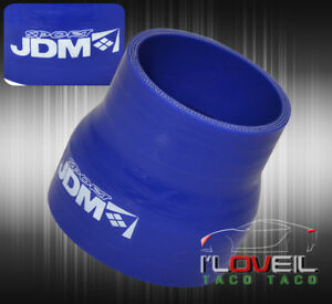 Turbo Jdm 2 5 To 3 Silicone Hose Reducer Coupler Blue For Camaro Corvette Trax