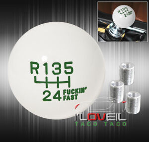 For Subaru Shift Knob F Ing Fast Weighted 4oz Round Ball Type Adapter Kit Green