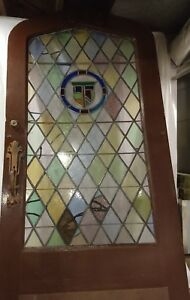 Antique Vintage Stained Glass Custom Entry Door From St Louis