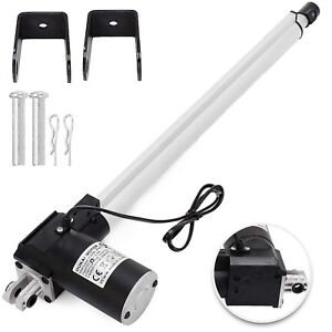 Dc 24v Linear Actuator 1320lb 6000n 400mm For Auto Car Lift Heavy Duty Medical