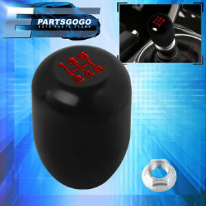 Type R Style Manual Mt 5 Speed Gear Black Aluminum Red Letters Shift Knob