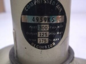4959k5 Compressed Air Regulator Used
