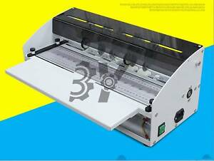 Electric Book Cover Creasing Machine Card Folding Paper Dotted Line Cutting