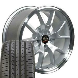 18x9 Wheels And Tires Fits Ford Mustang Fr500 Style Mach D Rim W Ironman Cp