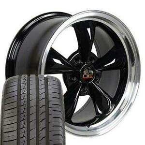 18 Wheel Tire Set Fit Ford Mustang Bullitt Style Black Rim Ironman