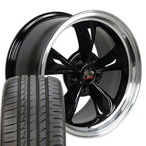 18x9 Wheels And Tires Fit Ford Mustang Bullitt Style Black Rim W ironman Cp