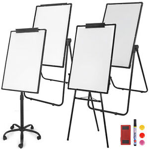 Magnetic Whiteboard Dry Erase Tripod U Stand Mobile Double single Side For Kids