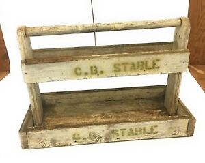 Antique Vintage Wooden Farrier Tool Box Horse Shoe Box