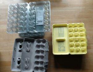 12 18 30 Count Egg Cartons Paper Trays Styrofoam Plastic Lot Of 37