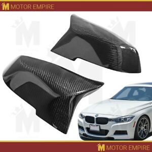 2pc Glossy Black Carbon Fiber M Style Side Mirror Replacement For Bmw F20 F30