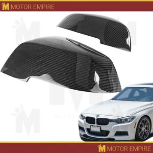 2pc Glossy Black Carbon Fiber Side Mirror Replacement For Bmw F20 F22 F30 F32