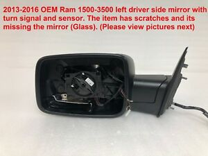 2013 2016 Ram 1500 3500 Left Side Mirror With Turn Signal 68231243ad 241