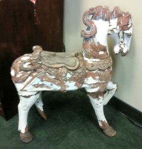 Antique Carved Horse 1960 S S Art Deco Centerpiece Rare