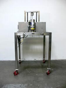 Lightnin Ev5p33 Adjustable Height Mixer W 5hp Baldor Motor On Rolling Frame