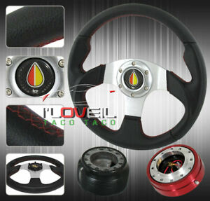 Acura Integra Rs ls gsr 320mm Leather Steering Wheel Security Quick Release Hub