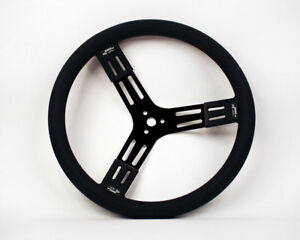Longacre Black Paint Steel 15 In Diameter Steering Wheel P n 56841