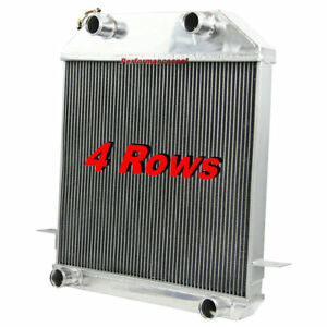 4 Rows Aluminum Radiator For 1939 1941 Ford Mercury Deluxe Pickup Flathead V8