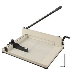 17 Heavy Duty Paper Cutter Trimmer A2 Adjustable Backstop With Lock Rubber Ft