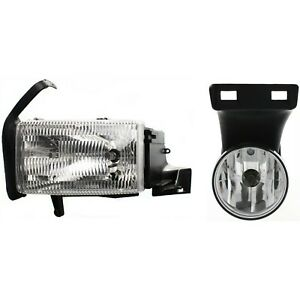 Headlight Kit For 1999 2001 Dodge Ram 1500 Left 2pc