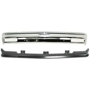 New Kit Bumper Face Bar Front For Chevy S10 Pickup S 10 Blazer S15 Jimmy Chrome