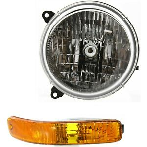 Headlight Kit For 2003 2004 Jeep Liberty Left 2pc