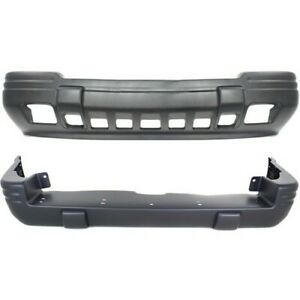 Front Rear Bumper Cover Set For 1996 98 Jeep Grand Cherokee Limited Primed 2pc