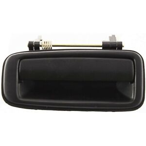 Exterior Door Handle For 88 92 Toyota Corolla Rear Driver Side Black Plastic