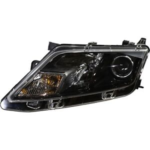Headlight For 2010 2011 2012 Ford Fusion Left Black Housing With Bulb Capa