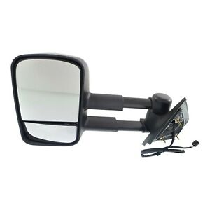Power Towing Mirror For 2007 2013 Chevrolet Silverado 1500 Left Manual Fold