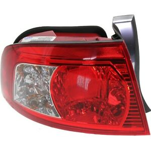 Halogen Tail Light For 2003 2006 Kia Optima Left Outer Clear Red Lens W Bulbs